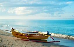 Fischerboot des Balinese Stockfotos