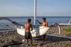 Fischerboot des traditionellen Balinese Lizenzfreie Stockfotos