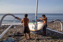 Fischerboot des traditionellen Balinese Lizenzfreie Stockbilder