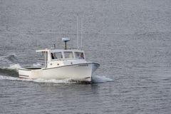 Fischerboot Freiheit auf Acushnet-Fluss Stockbild
