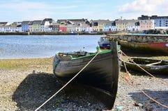 Fischerboot in Galway stockfotografie