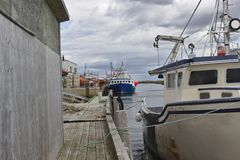 Fischerboot in Hafen 3123 A stockbild