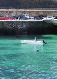Fischerboot in Hafen Malpica Bergantinos - Nordküste Spanien Lizenzfreie Stockfotos