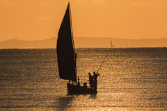 Fischerboot - Inhassoro - Mosambik Lizenzfreie Stockfotografie