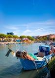 Fischerboot in Italien Stockbild