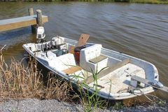 Fischerboot Louisianas stockfotografie