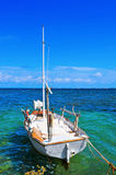Fischerboot machte in Formentera, die Balearischen Inseln, Spanien fest Lizenzfreie Stockfotografie