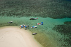 Fischerboot in Meer Lizenzfreies Stockfoto