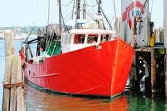 Fischerboot in Montauk lizenzfreie stockfotografie