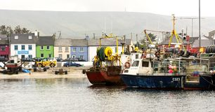 Fischerboot in Portmagee in 15 Mai 2016 Irland Lizenzfreies Stockbild
