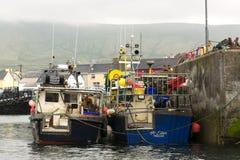 Fischerboot in Portmagee in 15 Mai 2016 Irland Stockfotografie