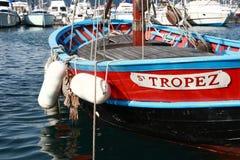 Fischerboot in St Tropez Lizenzfreies Stockbild