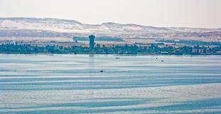 Fischerboot in Suezkanal, Ägypten stockfotografie