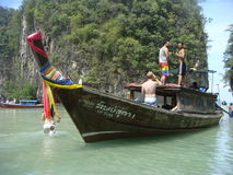 Fischerboot Thailand Stockfotografie