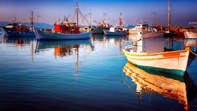 Fischerbootaufstellung Stockbilder