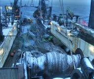 Fischerbootdetails Stockfoto