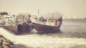 Fischerboote in Adschman-Hafen Stockfoto