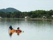 Fischerboote auf dem Fluss Kwai Lizenzfreies Stockbild