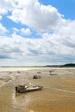 Fischerboote in Cancale, Fran Stockfoto