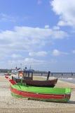 Fischerboote in der Ostsee, Deutschland lizenzfreie stockfotos