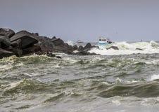 Fischerboote des Troller Stockbilder