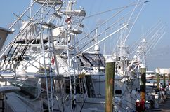 Fischerboote in einem Jachthafen Stockfotografie