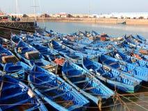 Fischerboote in Essaouira, Marokko Stockbilder