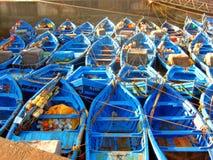 Fischerboote in Essaouira, Marokko Stockfotografie