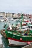 Fischerboote in Frankreich Stockbild