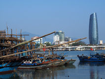 Fischerboote im Da Nang Lizenzfreie Stockfotografie