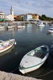 Fischerboote im Hafen von Fazana Lizenzfreies Stockfoto