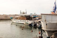 Fischerboote im Hafen von Jaffa Lizenzfreies Stockfoto