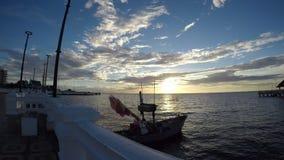 Fischerboote im Meer stock video