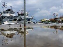 Fischerboote in Izmir Karaburun Stockfotografie