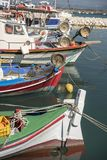 Fischerboote in Katakolon-Hafen Stockfoto