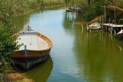 Fischerboote La Albufera Lizenzfreie Stockfotos