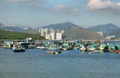 Fischerboote in Lamma-Insel, Hong Kong Stockfotografie