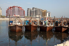Fischerboote in Manama, Bahrain Stockfoto