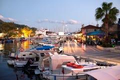 Fischerboote in Marmaris-Jachthafen die Türkei Stockbild