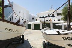 Fischerboote, Menorca, Spanien Lizenzfreie Stockfotos