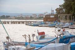 Fischerboote nach Fangzeit Lizenzfreies Stockfoto
