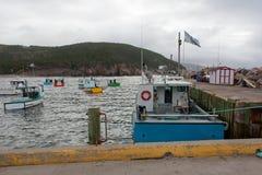 Fischerboote in Nova Scotia Stockbilder