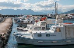 Fischerboote am Pier Lizenzfreies Stockbild