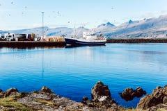 Fischerboote in Süd-Island Lizenzfreie Stockfotografie