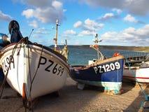Fischerboote Sennen Bucht Cornwall Lizenzfreie Stockbilder