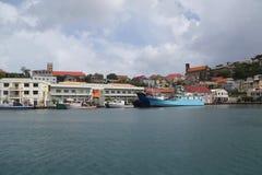 Fischerboote in St- George` s Jachthafen, Grenada Lizenzfreie Stockbilder