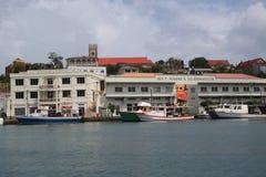 Fischerboote in St- George` s Jachthafen, Grenada Lizenzfreies Stockfoto