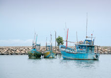 Fischerboote in Tangalle-Hafen Stockfoto
