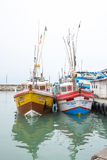 Fischerboote in Tangalle-Hafen Lizenzfreies Stockfoto