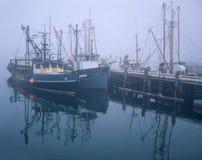 Fischerboote und Pier Lizenzfreies Stockbild